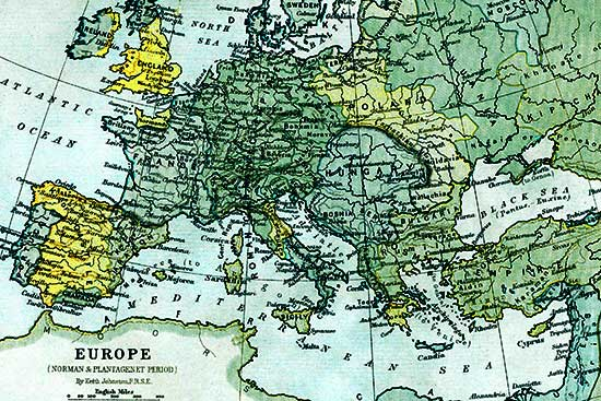 Sample map of Europe.